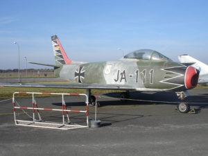 fighter plane with Erich Hartmann's signature plane color scheme